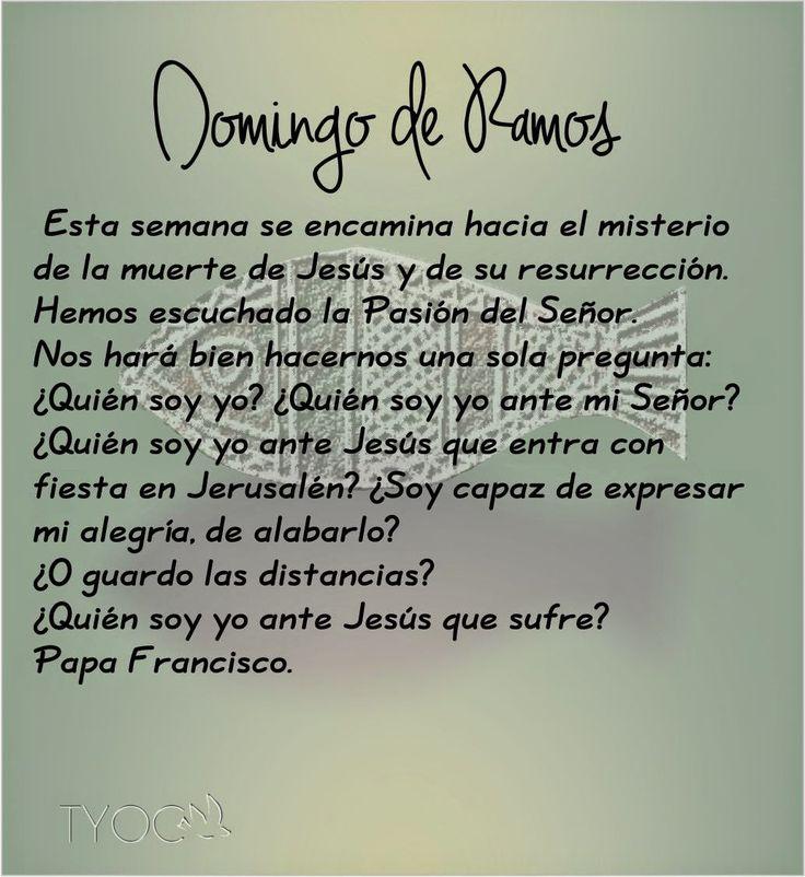 MIS PROPÓSITOS : DOMINGO DE RAMOS