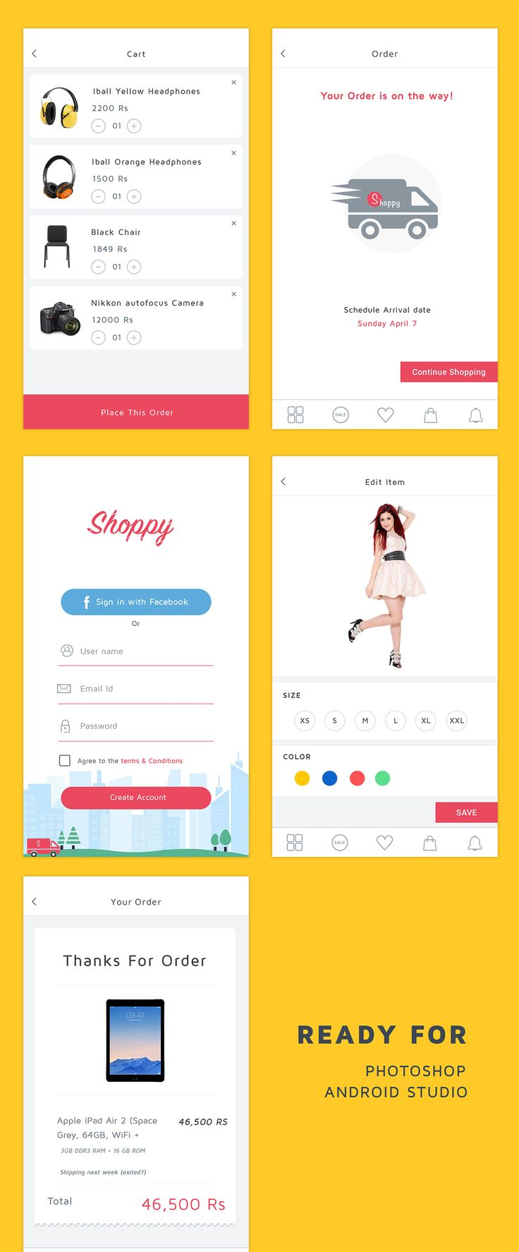 "Ecommerce Application , supported in android and photoshop. Download today from Code canyon ""Shoppy Ecommerce"""