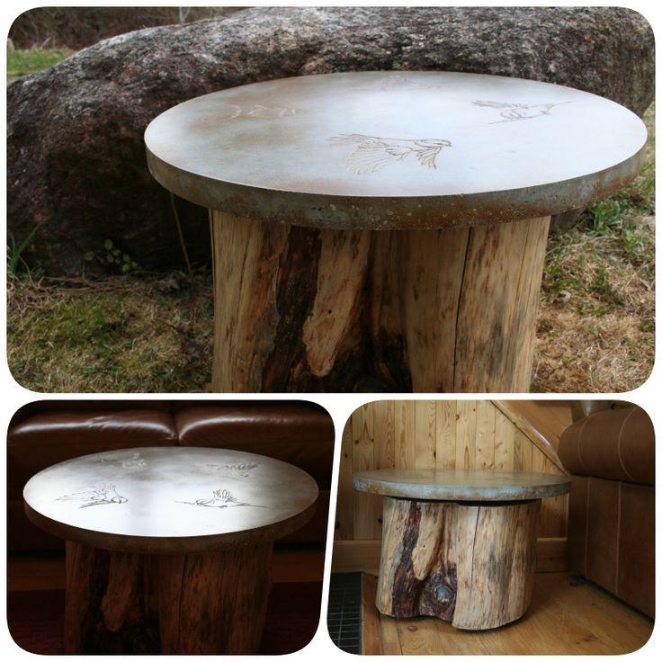 table en béton rustique/ concrete coffe table