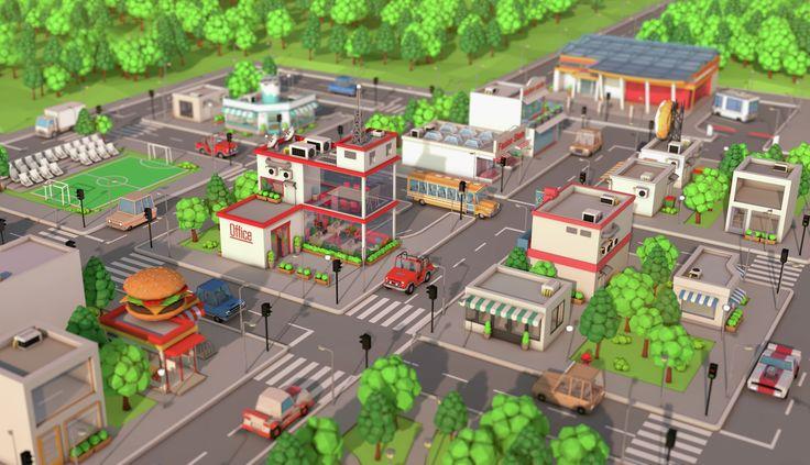 Low Poly City Pack by BigBallsStudio   3DOcean
