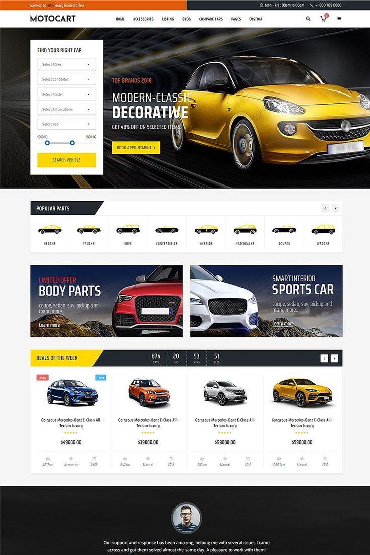 Motocart Car Dealer Website Template Templatemonster Car Advertising Design Car Rental Website Website Template Car dealer website template free