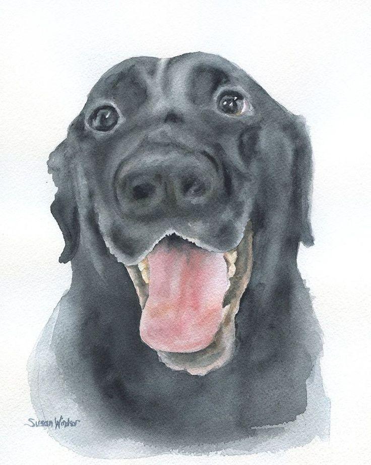 Custom Portrait Pet Portrait Original Watercolor Painting 8 x 10
