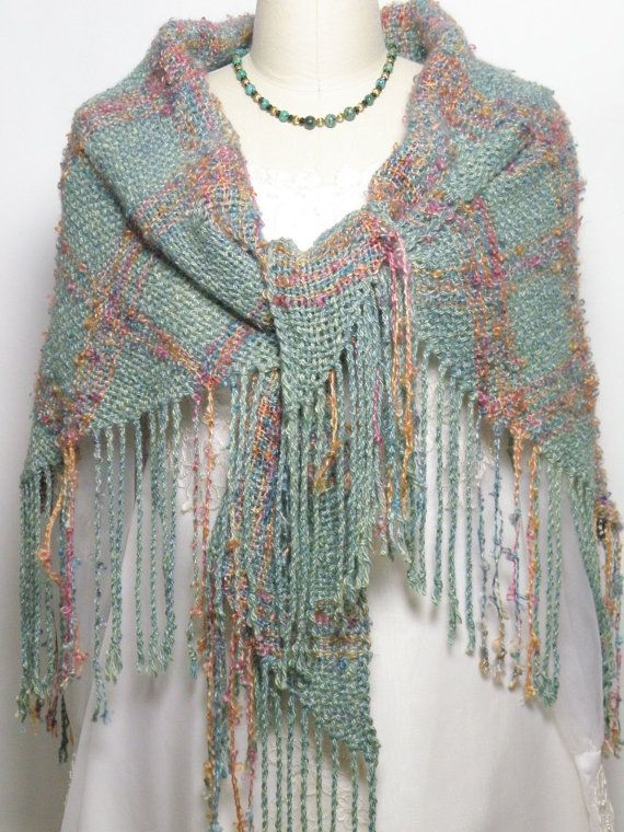 Handwoven Triangle Shawl Special Occasion Elegant by Shawltique, $225.00