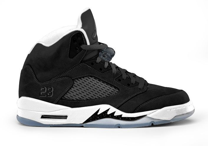 "This is the Air Jordan V Oreo 5s 2013 which features a mostly black and white color way with cool grey accents. The ""Oreo"" concept is one that originates from the original Air Jordan IV (4) Retro (Black/Black-Cool Grey) which were dubbed the ""Oreos"" back in 1999. 136027-035 Air Jordan 5 Oreo Black Our Price :$121.99    http://www.jordankicksonfires.com/136027-035-air-jordan-5-oreo-black-white-680.html"
