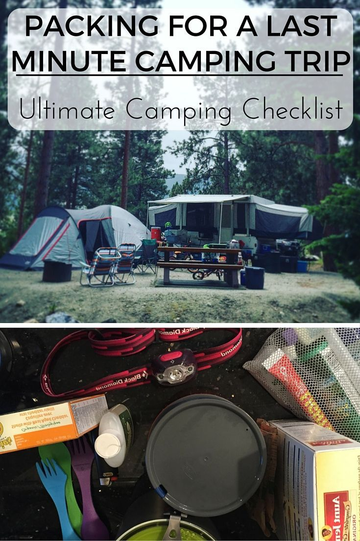"Your friends call and invite you out for a weekend of camping. You quickly decide that the household responsibilities can wait and announce to your family, ""We're going camping!"" Check out our Ultimate Camping Checklist that will help you get camping ready!!!!"