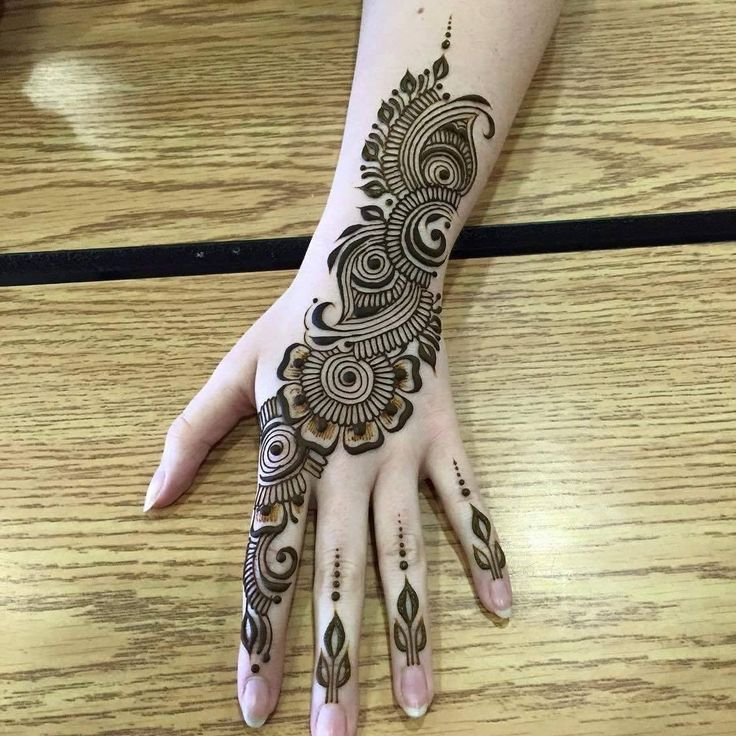 Mehndi For Right Hand Back Side : Best images about mehandi on pinterest