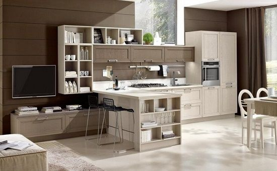 Risultati immagini per cucina soggiorno 20 mq | Piccole cucine ...