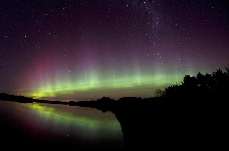 Southern Lights, near Invercargill, New Zealand.
