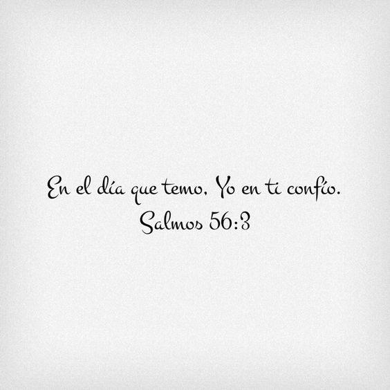Salmos 56:3 En el día que temo, Yo en ti confío.