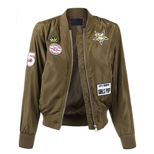 Military Style Bomber Jacket. Teens fashion. Street style. (Christmas Gifts For Teens)