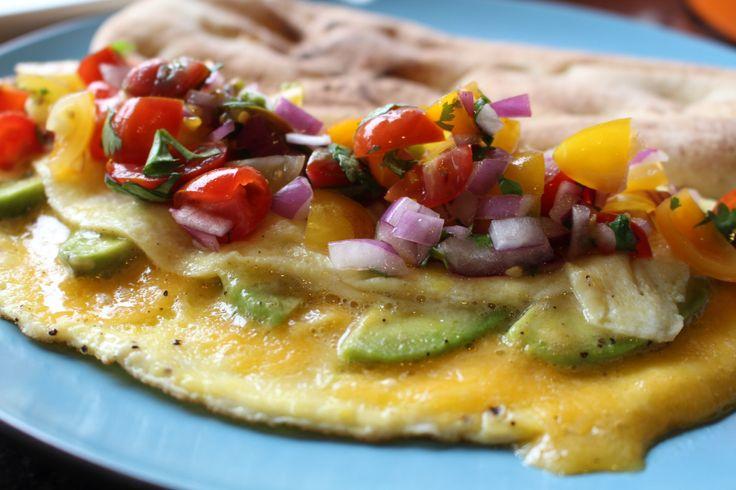 avocado omelette with fresh salsa fresh salsa omelette avocado eggs ...