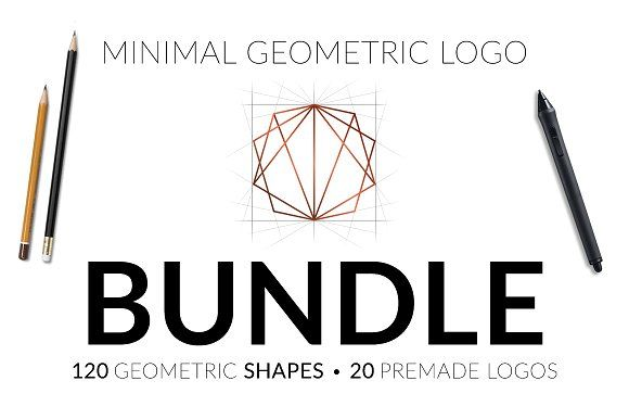 Minimal Geometric Logo Bundle v1 by buttonpl on @creativemarket