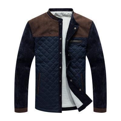 *Online Exclusive* Men's Quilted Jacket w/ Suede Shoulders