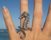 sea horse ring. $138.00, via Etsy.
