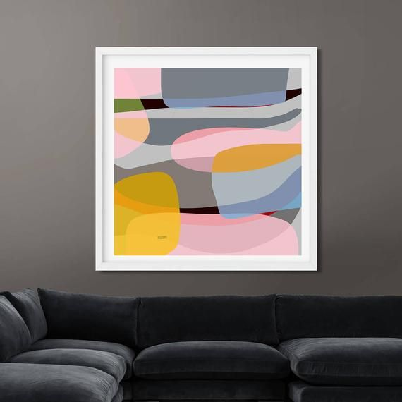 Abstract Wall Art Print, Colorful Painting, Modern Decor