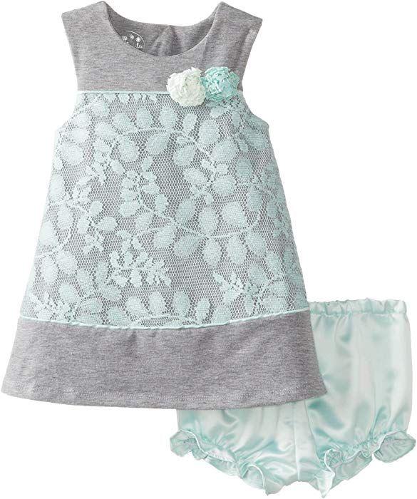 7690a2dbc6b Amazon.com  Pippa   Julie Baby Girls  Lacey Sweatshirt Dress
