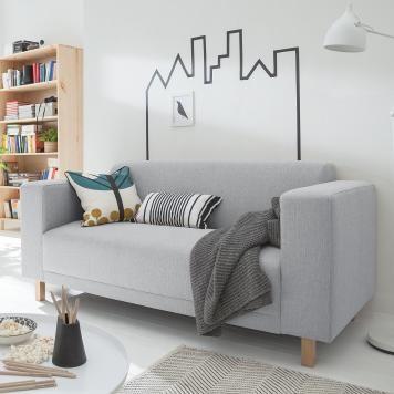 Schön Sofa KiYDOO Relax (2 Sitzer)   Webstoff   Silber