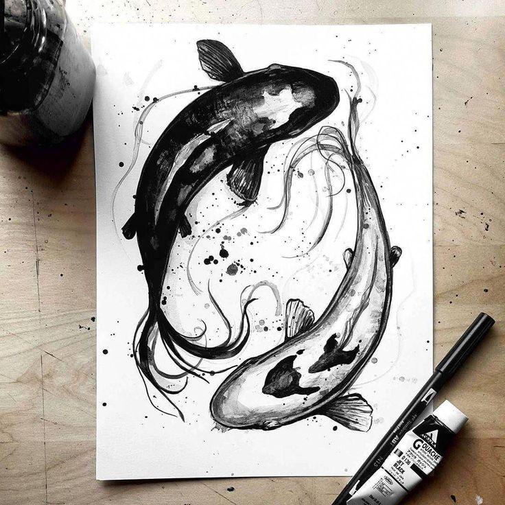 Night and Day Koi removetattoos KoiFishColors Tattoo