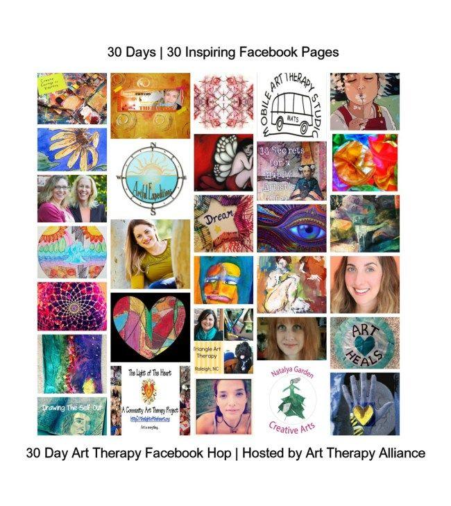 Art Therapy Alliance's 30 Day Art Therapy Facebook Hop Starts June 1 | Natalya Garden Creative Arts