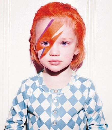 David Bowie costume - @Mary Powers Lewd -I thought of you and your littles for this one!