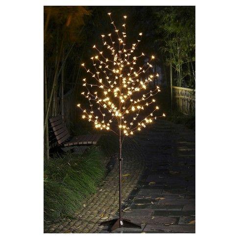 Lightshare 6 208l Led Cherry Blossom Tree Warm White Lights Lighted Tree Branches Tree Lighting Solar Hanging Lanterns
