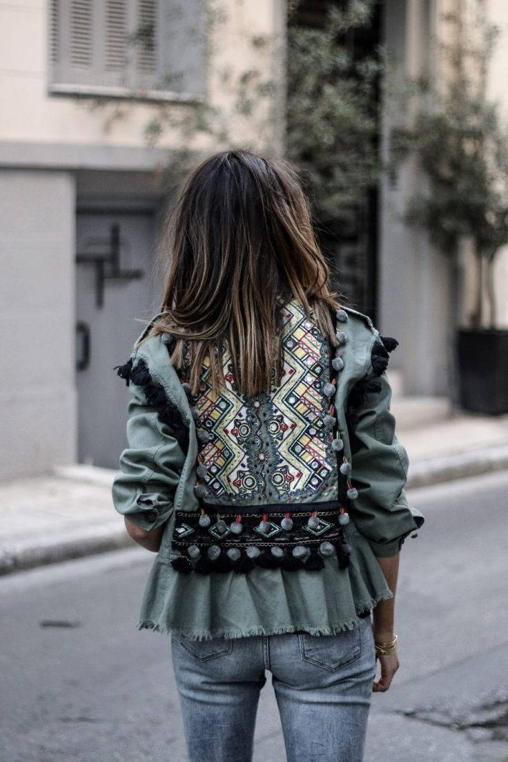 Veste kaki à pompons - JUNE Sixty-Five - Blog Mode