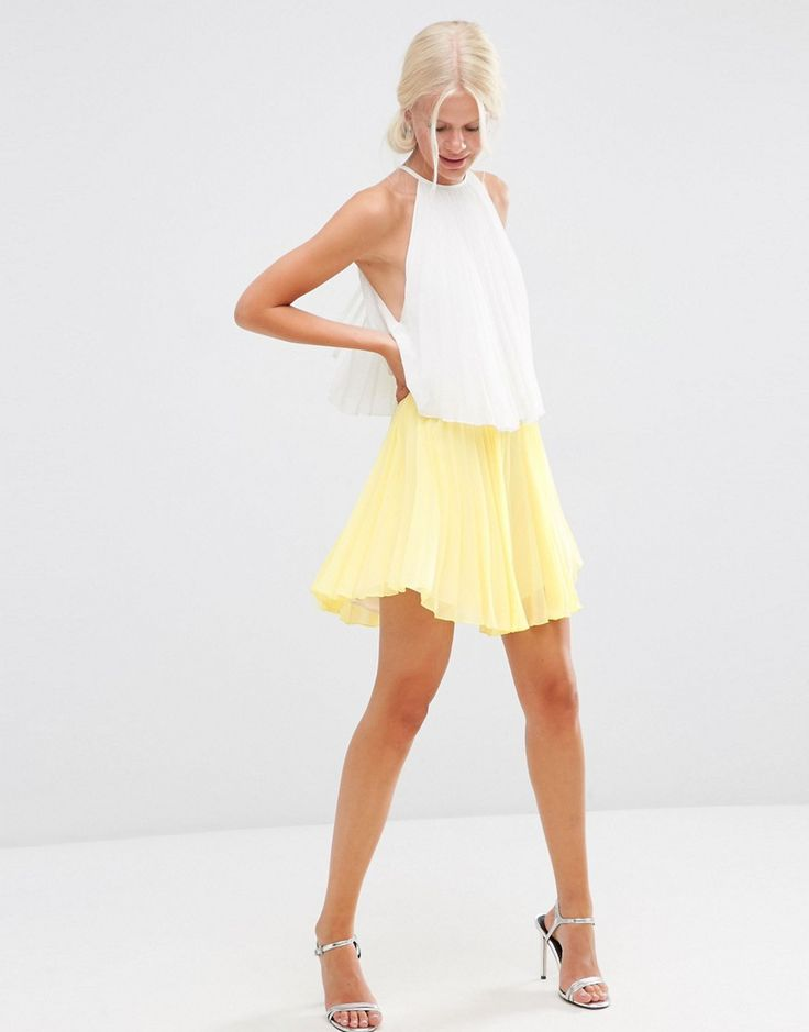 love colorblock dresses and this one would be awesome for a wedding guest or fro bride
