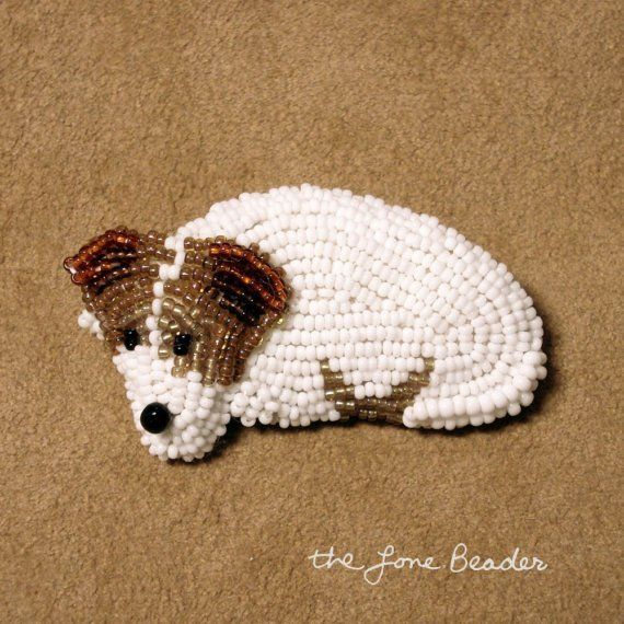 Lovely dogs brooches by the Lone Beader   Beads Magic