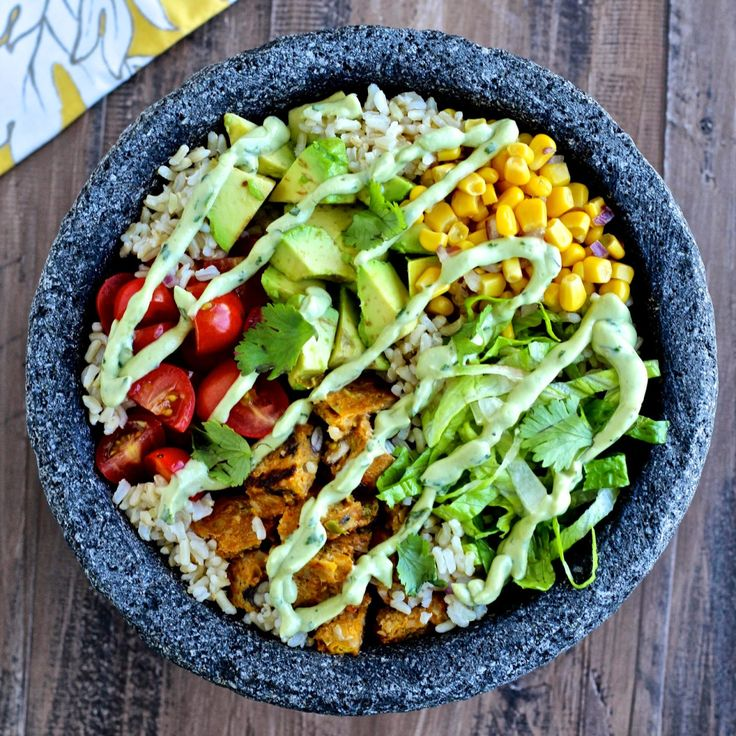 Protein-Packed Vegetarian Burrito Bowls