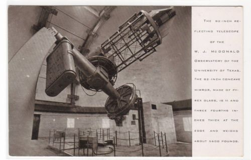 Reflecting Telescope McDonald Observatory Interior University Texas Postcard   eBay
