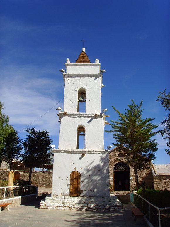 Iglesia de San Lucas, Toconao, pueblo cercano a San Pedro de Atacama.