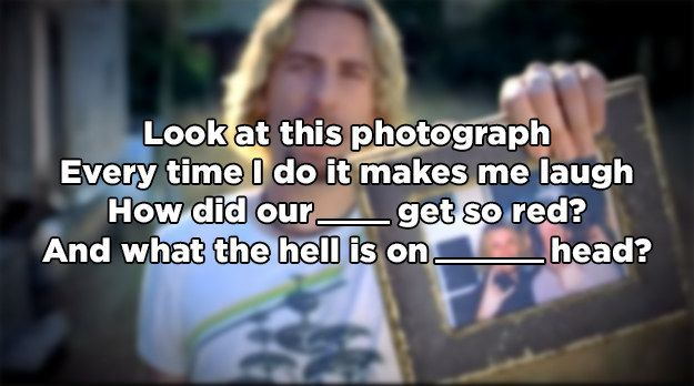 "Do You Remember The Lyrics To ""Photograph"" By Nickelback"