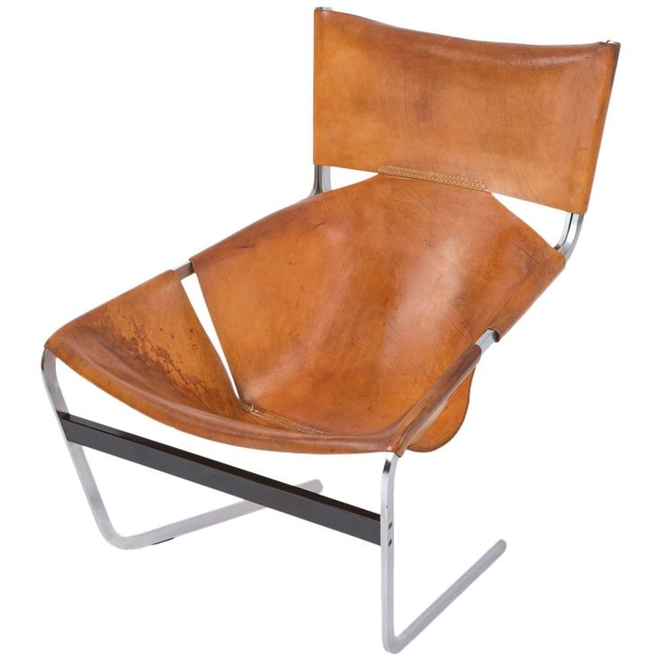 Pierre Paulin Artifort F444 Artifort in Brown Leather Chair, 1965 | From a unique collection of antique and modern lounge chairs at https://www.1stdibs.com/furniture/seating/lounge-chairs/