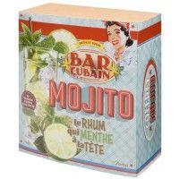 Coffret accessoires cocktail MOJITO Natives déco rétro vintage
