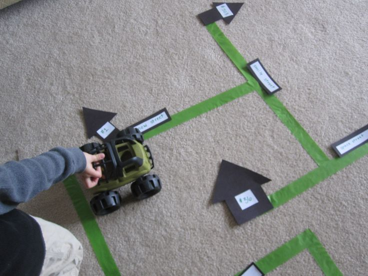 Gross Motor Reading Game - maybe just do with numbers or letters for early literacy