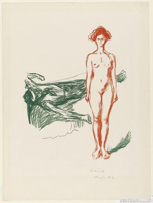 Edvard Munch. The Death of Marat (Marats død). 1906-07, signed 1912