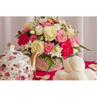 Декор в малиновом цвете