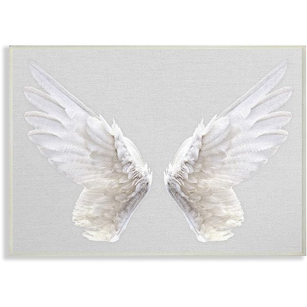 Stupell Industries Wings Wall Art ($17) ❤ liked on Polyvore featuring home, home decor, wall art, wings wall art, angel wall art, textured wall art, angel wings wall art and giclee wall art
