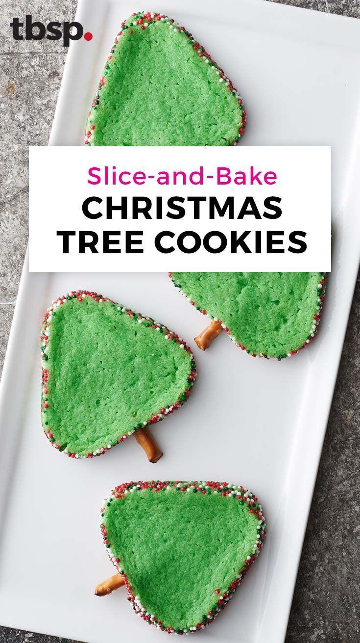 Slice And Bake Christmas Tree Cookies Recipe Holiday Hacks