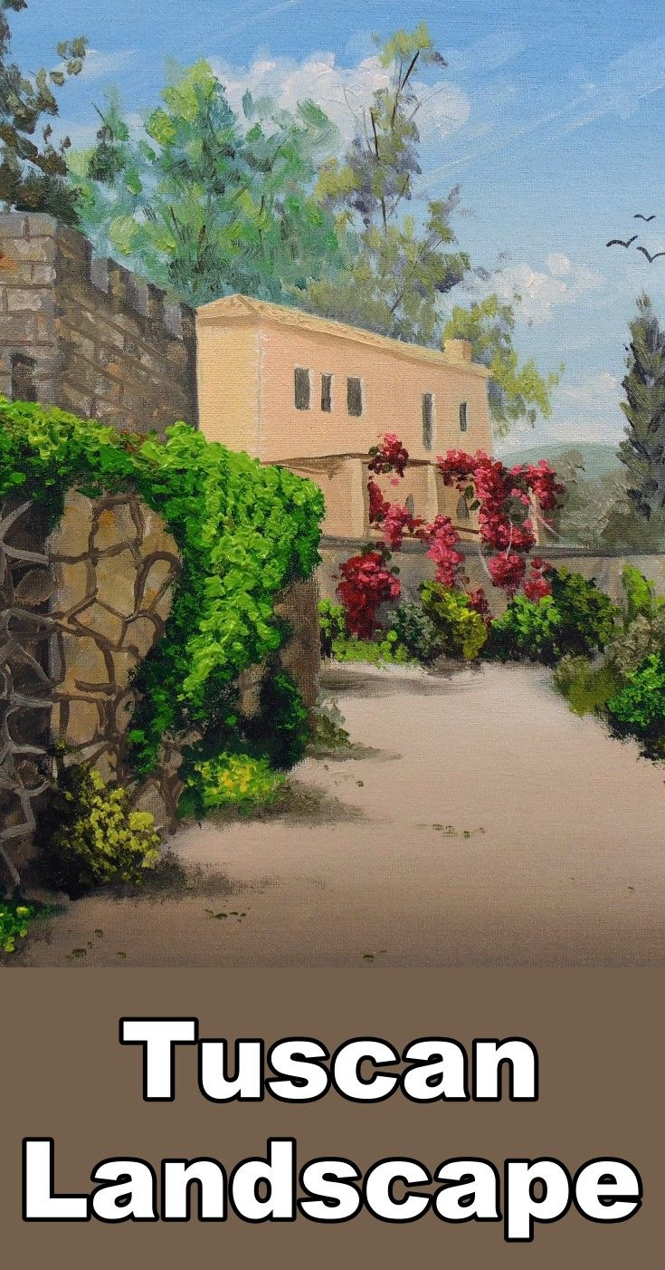 78 best oil painting lessons images on pinterest oil painting learn how to paint a beautiful tuscan landscape in this free oil painting online art class dhlflorist Image collections