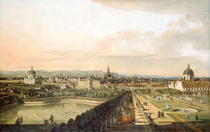 """Bellotto Bernardo - Called Canaletto Vienna Viewed From Belvedere Palace Google Art Project Per Stampa (from <a href=""""http://www.oldpainters.org/picture.php?/45287/category/15206""""></a>)"""