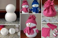 #Bricolage #Bonhomme de #neige #DIY