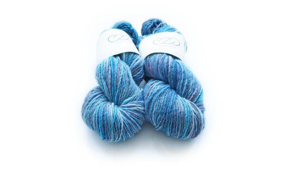 Ovilab Bright Skinnies Candy Blue Handspun by OvilabYarns