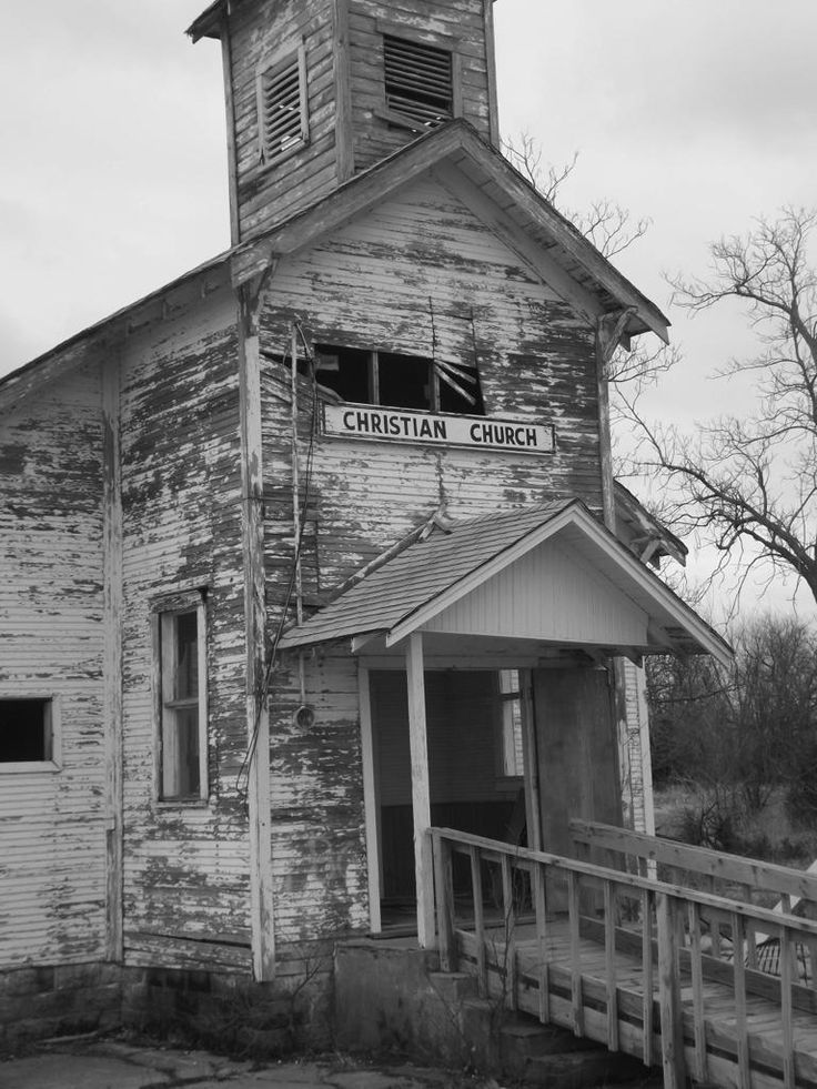 Abandoned church in Picher, Oklahoma.  Imagine the children going to Sunday School here ...