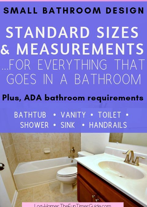Bathroom Design Tools Standard Sizes And Measurements For