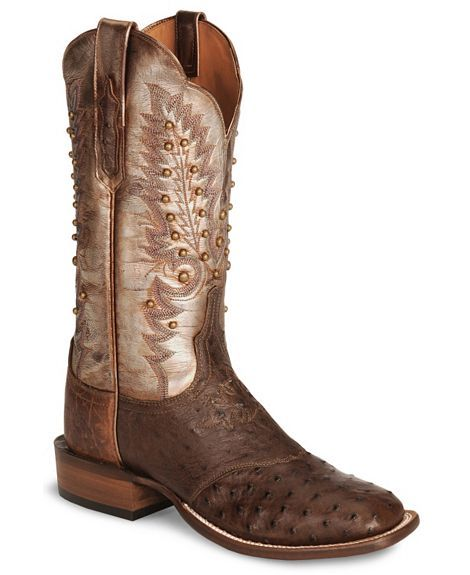 Handcrafted Lucchese Cowgirl Sienna Pin Ostrich Boot- Square Toe