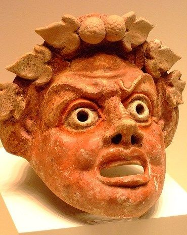 Terracotta Mask of Satyr - made in the eastern Mediterranean, 300-150 BCE