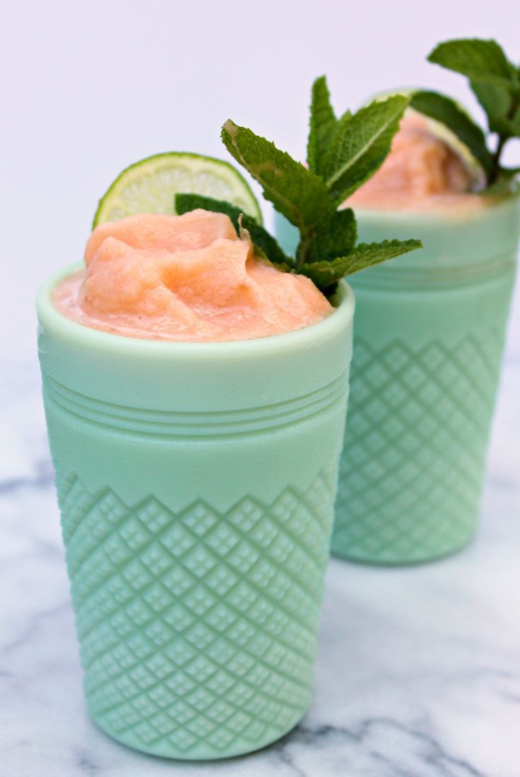 Bachelorette party drink idea - Cantaloupe Wine Slushies {Courtesy of Cooking with Books}