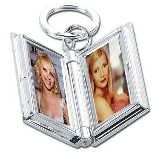 Natico Key Ring with Double Photo Frame, Silver (60-985) by Natico. $12.80. Polished silver key ring with double photo frame - carry photos of those near and dear to you at all times.. Save 15%!