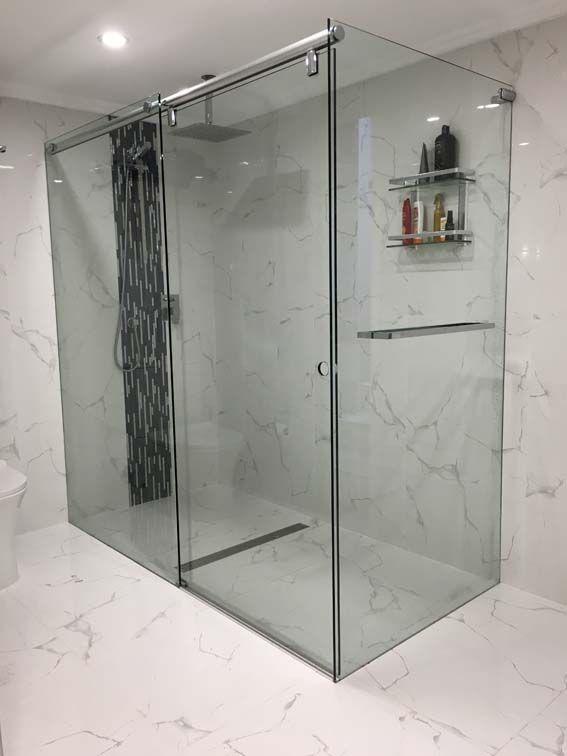 Sliding Frameless Shower Screen | White Bathroom Co